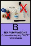 PKG B minus weight pump